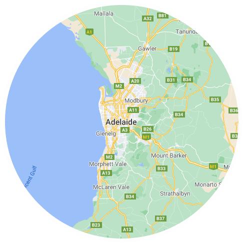 Map of Adelaide, SA