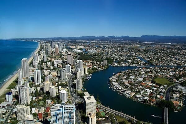 Gold Coast is famous worldwide for its expansive white sand.